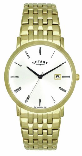 Rotary GB02624/01 Gents Gold PVD Stainless Steel Waterproof Bracelet Watch