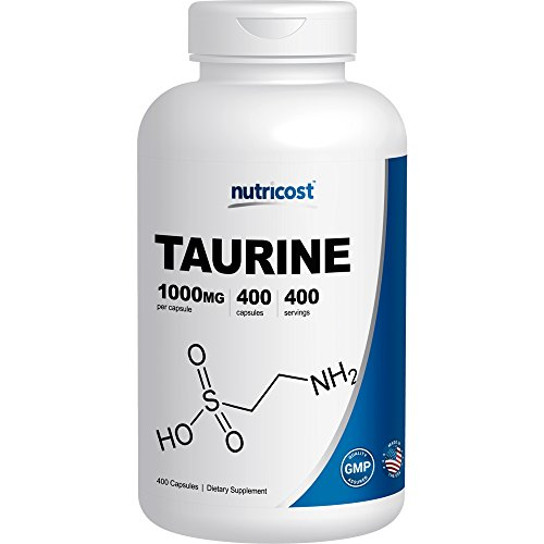 Nutricost Taurine 1000mg; 400 Capsules (1000 Mg Taurine compare prices)