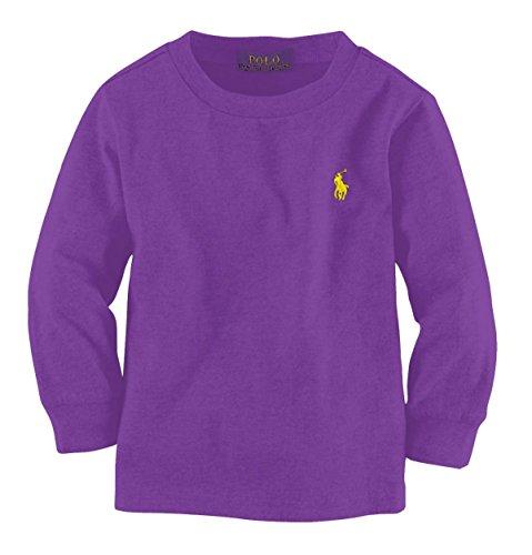 Polo Ralph Lauren Mens Long Sleeve Pony Logo T-Shirt (Small, Purple)