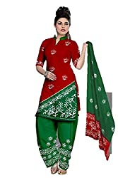 Riddhi Dresses Women's Cotton Unstitched Dress Material (Riddhi Dresses 77_Multi Coloured_Free Size)