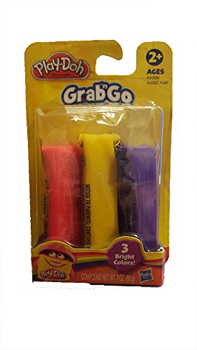 Play Doh Grab N' Go Refill Set - Red, Yellow, and Purple - 1