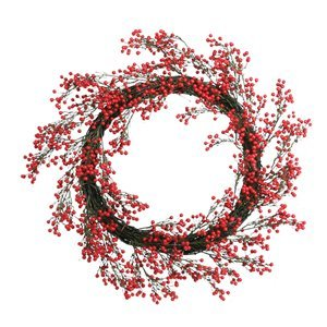 Wild Berry Wreath - Red (24