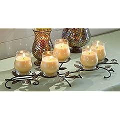 Longaberger Bronze Leaf Candle Centerpiece