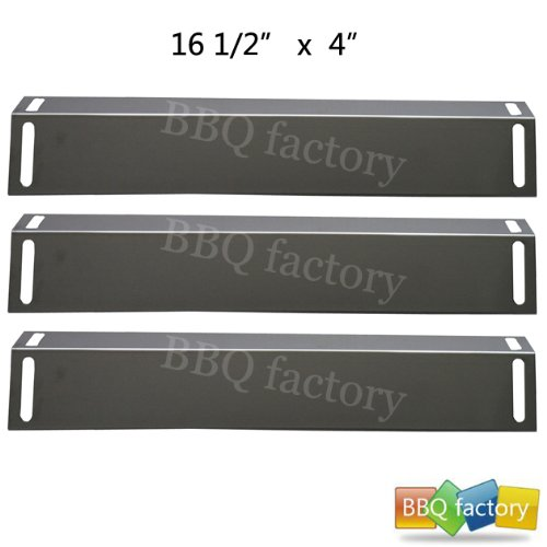 92151(3-Pack) Stainless Steel Heat Plate Replacement For Select Gas Grill Models By BBQ Grillware, Charbroil And Others
