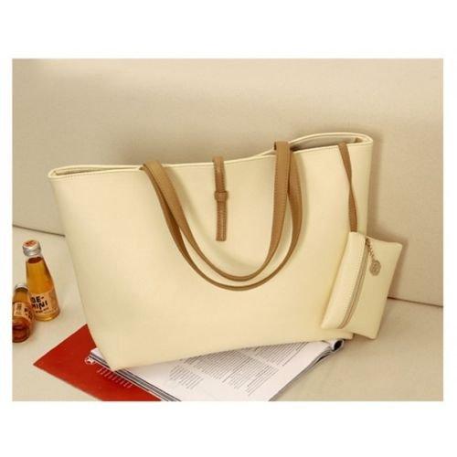 Borsa shopping bag modello Carol vari colori modo primavera MWS AHEAD donna (Panna)