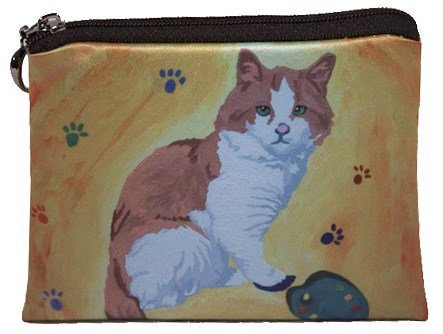 Cat Change Purse, Cat Coin Purse - Yes, Salvador Really Does Paint - Salvador Kitti