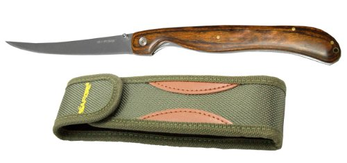 Sarge Knives SK-131 Folding Fillet Knife with 5-7/8-Inch Stainless Steel Blade and Pakkawood Handle