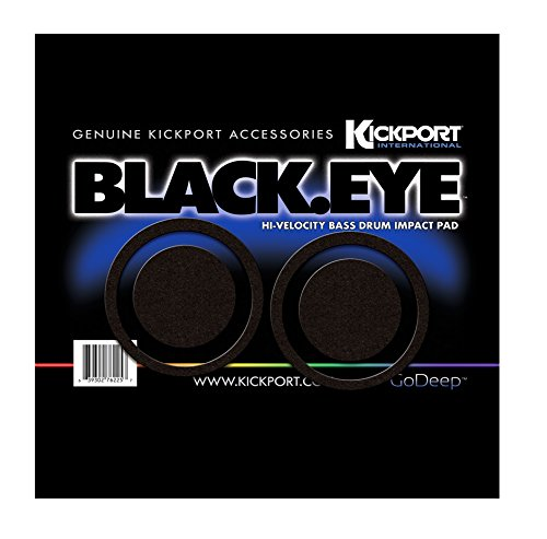Kickport Blk-Eye Bass Drum Impact Pad, Black Eye