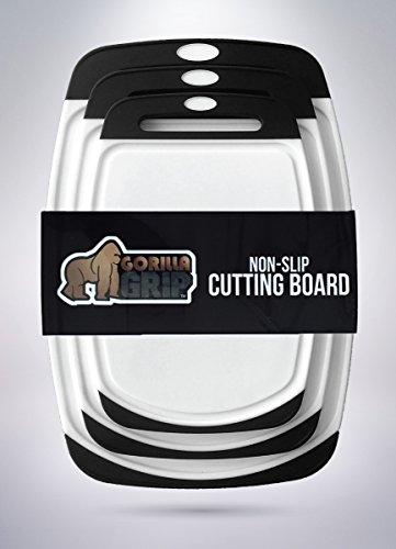 The Original GORILLA GRIP (TM) Non-Slip Reversible Cutting