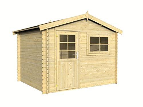 gartenhaus holz cravog 28 mm ger tehaus blockhaus zum wohnen und leben 300x250cm. Black Bedroom Furniture Sets. Home Design Ideas