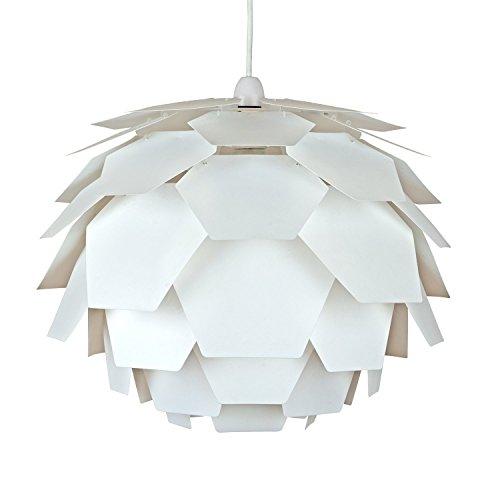 moderne-blanc-abat-jour-designer-artichaut-blanc-suspension-pour-plafond