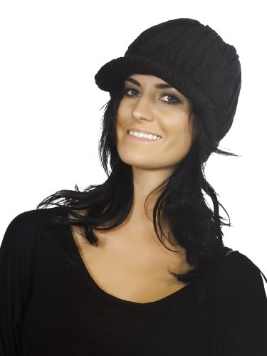 Simplicity New Unisex Black Baggy Knit Ski Snowboard Hat Knit Beanie