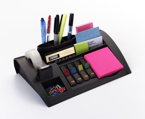 Post-it Desktop Organizer, 10-1/4 x 6-3/4 x 2-3/4-Inches, Black