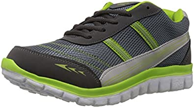 A-Star Men's Grey and Parrot Green Running Shoes - 8 UK (AST-PUMA1)