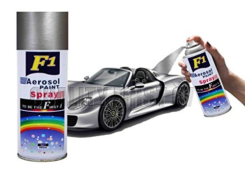 buy f1 aerosol spray paint silver shinning for multipurpose car bike cycle etc on amazon. Black Bedroom Furniture Sets. Home Design Ideas
