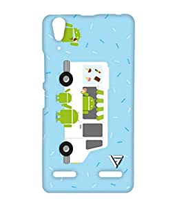 Vogueshell Android Eating Ice Cream Printed Symmetry PRO Series Hard Back Case for Lenovo A6000