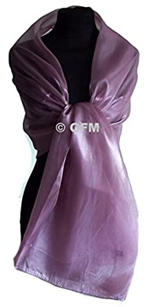 GFM Sheer Shimmer Iridescent Scarf (Cameo Pink)(P2)