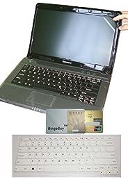 US Layout Keyboard Skin Cover +14\'\' anti glare & scratch & fingerprint Screen Protector for Lenovo thinkpad T460 T460p T460s E460 E645 L460, P40 Yoga, thinkpad X1 Yoga, Yoga 460 (semi-white)