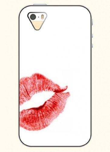 Oofit Phone Case Design With Red Lips For Apple Iphone 4 4S 4G front-388297
