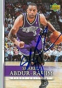 Shareef Abdur-Rahim Autographed Hand Signed football card (Sacramento Kings) 2007... by Hall of Fame Memorabilia
