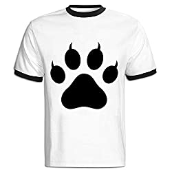 MTOO Men's Claw Clipart Paw Print T Shirts