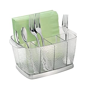 Amazon.com: InterDesign Rain Flatware Caddy, Clear: Home & Kitchen