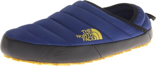The North Face Nuptse Traction Mule Slippers – Bolt Blue/Leopard Yellow (AQGXZJ0)