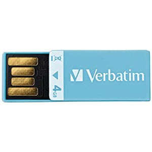 Verbatim Clip-IT 4 GB USB 2.0 Flash Drive 97550 (Blue)
