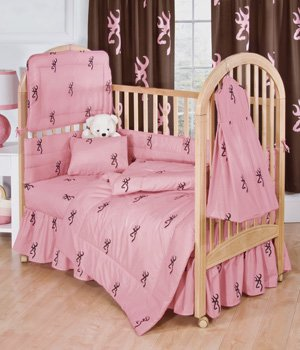 Pink Camo Crib Bedding