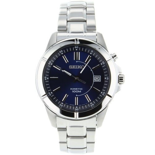 Seiko Men'S Ska539 Stainless Steel Analog Blue Dial Watch