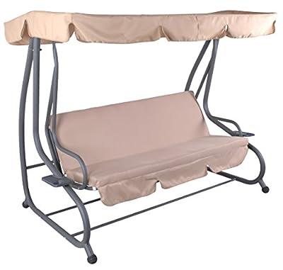 4-Sitzer Hollywoodschaukel mit Liegefunktion, anthrazit creme natur von ichwillgartenmoebel auf Gartenmöbel von Du und Dein Garten