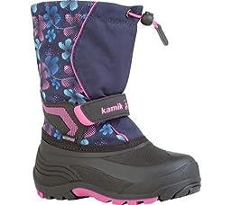 Kamik Snowbank2 Kids Winter Boot (Toddler), Navy/Magenta, 10 M US Toddler