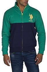 US POLO ASSOCIATION Men's Fleece Sweater (USSS0183_Green_Large)