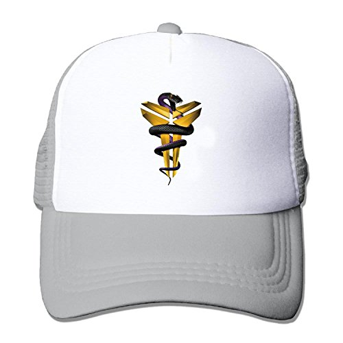 Basketball player #24 Bryant snake Truck caps Cool Men Women cap Gray (5 colors) (Lakers Cheerleading Outfit)