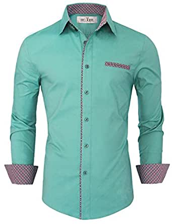 Tom's Ware Chemise habillee Layered interieure-Hommes TWNMS310S-1-MINT-S