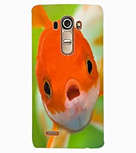 ColourCraft Cute Fish Design Back Case Cover for LG G4
