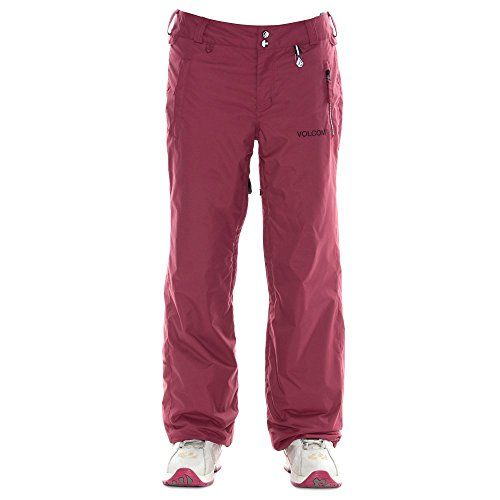 Volcom Juniors Gladstone Insulated Snow Pant, Cabernet, Small
