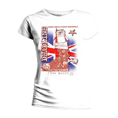 Licenza ufficiale scadenza Tank Girl-Maglietta da donna Stivali (Bianco) bianco X-Large