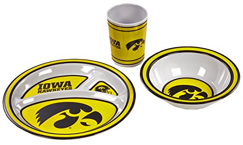 NCAA Iowa Hawkeyes Kid's 3-Piece Dish Set - 1