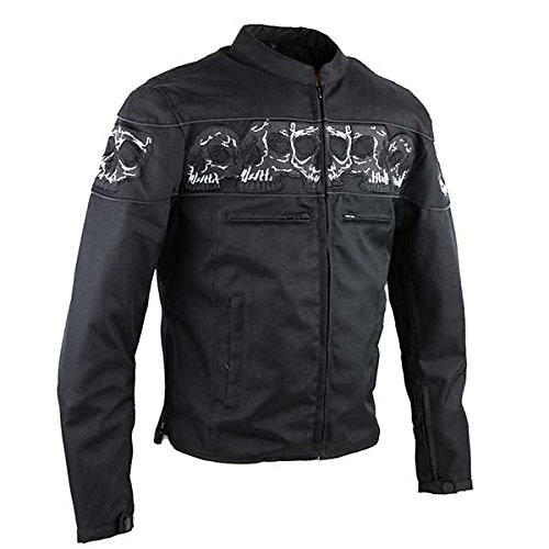 Reflective Skull Textile Motorcycle Jacket MJ1535 3XL