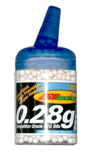 TSD Tactical 6mm plastic airsoft BBs, 0.28g, 1000 rds, white