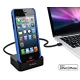 KiDiGi USB Desktop Cradle Dock Stand with MFi Lightning Cable for Apple iPhone 5/5S/ 5C iPod Touch 5G/iPod Nano 7G Black
