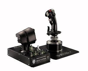 Thrustmaster Hotas Warthog Ensemble de Joystick et Manette des gaz pour jeu PC de simulation de vol