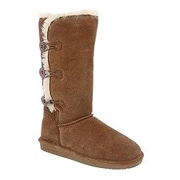 BEARPAW Women\'s Lauren Winter Boot, Hickory, 8 M US