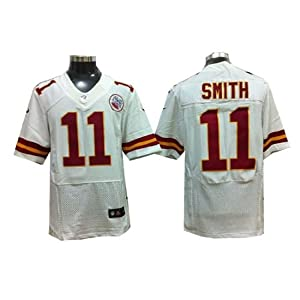Kansas City Chiefs 11 Alex Smith Elite Red white Jersey (White, 40) by LEAGUE GEAR