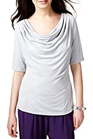 Modal Blend Cowl Neck Drape Top [T62-0171H-S]