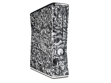 Aluminum Foil Decal Style Skin for XBOX 360 Slim Vertical