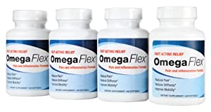 Omega Flex - 4 Month Supply of Breakthrough Joint Health Supplements By Marine Essentials - Contains Omega-3, Calamarine, 5-Loxin, and Fruitex-b - Can Increase Blood Flow and Lessen Joint Stiffness - Countless Benefits - 60 Day Money Back Guarantee