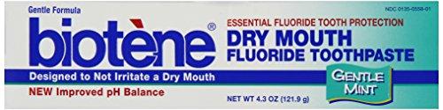 Biotene Toothpaste, Gentle Mint, 4.3 Ounce