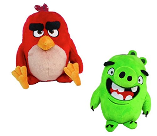 Angry Birds Movie 11 Inch Talking Plush 2 Pack! Red & Pig (Angry Birds Seasons Toys compare prices)